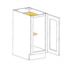 Espresso Shaker Cabinets - BT15-RT-ES
