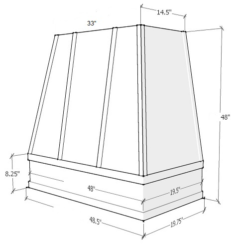 Espresso Shaker Cabinets - ASH-3V4848-ES