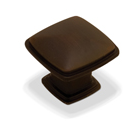 Kitchen Cabinet hardware - Cesar - 1-1/4'' overall length Zinc Diecast Plain Square Cabinet Knob. Finish: Oil Rubbed Bronze -1091ORB/4391