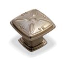 Kitchen Cabinet hardware - Cesar - 1-1/4'' overall length Zinc Diecast Plain Square Cabinet Knob. Finish: Satin Nickel -1093SN/4393SN
