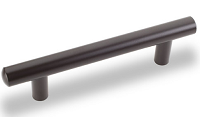 """Kitchen Cabinet hardware - Archipelago - 6-1/8"""" overall length cabinet bar pull. Holes are 96mm center-to-center. 9/16"""" Diameter. Packaged with two 8/32"""" x 1"""" screws. Finish: Oil Rubbed Bronze - 146ORB/305"""
