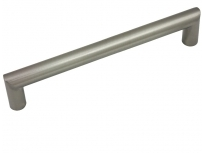 """Kitchen Cabinet hardware - Key Biscayne Collection - 6-13/16"""" overall length cabinet bar pull. Holes are 160mm center-to-center. Finish: Satin Nickel - 1703-160SN <EOL>"""