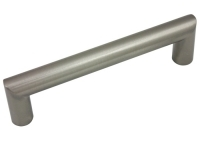 """Kitchen Cabinet hardware - Key Biscayne Collection - 5-1/2"""" overall length cabinet bar pull. Holes are 128mm center-to-center. Finish: Satin Nickel - 1703-128SN <EOL>"""