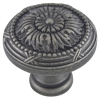 Kitchen Cabinet hardware - Marseille Collection - 1-1/4 Inch Diameter Mushroom Cabinet Knob from the Marseille Collection Weathered Nickel - 751-WN/9460