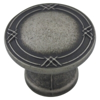 Kitchen Cabinet hardware - Marseille Collection - 1-5/16 Inch Diameter Cabinet Knob from the Marseille Collection Weathered Nickel - 752-WN/9462