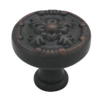 Kitchen Cabinet hardware - Marseille Collection - 1-1/4 Inch Diameter Floral Cabinet Knob from the Marseille Collection Oil Rubbed Bronze - 754-ORB/9465