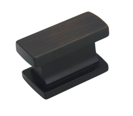 """Kitchen Cabinet hardware - Arteco Collection - 1-7/16"""" Overall Length Rectangle Cabinet Knob. Packaged with one 8/32"""" x 1"""" screw. Finish: Oil Rubbed Bronze - 891ORB/701"""
