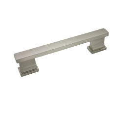 """Kitchen Cabinet hardware - Arteco Collection - 5-1/16"""" overall length cabinet bar pull. Holes are 4"""" center-to-center. Packaged with two 8/32"""" x 1"""" screws. Finish: Satin Nickel - 892SN/702"""