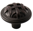 "Kitchen Cabinet Hardware - Braided Kelso Collection - 1-3/8"" Diameter Braided Cabinet Knob. Finish: Oil Rubbed Bronze - 3171-ORB/7065"