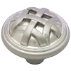 "Kitchen Cabinet Hardware - Braided Kelso Collection - 1-1/4"" Diameter Braided Cabinet Knob. Finish: Satin Nickel - 3171-SN/7064"