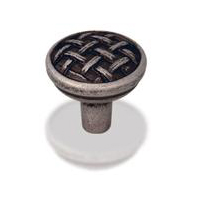 "Kitchen Cabinet Hardware - Braided Kelso Collection - 1-5/8"" Diameter Braided Cabinet Knob. Finish: Satin Nickel - 3174-SN/7065"