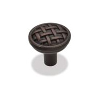 "Kitchen Cabinet Hardware - Braided Kelso Collection - 1-5/8"" Diameter Braided Cabinet Knob. Finish:Oil Rubbed Bronze - 3174-ORB/7065"