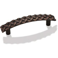 "Kitchen Cabinet Hardware - Braided Kelso Collection - 5"" Overall Length Braided Cabinet Pull. Holes are 96mm center-to-center. Finish: Oil Rubbed Bronze - 3172-ORB/7066"