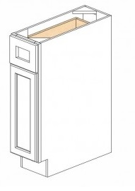 White Kitchen - J&K White Shaker Maple - Base Cabinet B09 - 9W X 24D X 34 1/2H - B09-LF-WS