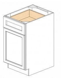 "Shaker White Kitchen Cabinets - Base - 18""W x 24""D x 34-1/2""H - 1 Door 1 Drawer Open Left"