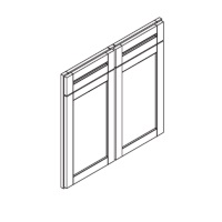 "Mahogany Maple Cabinets - Replacement Base Door - 30""W x 34-1/2""H - 2 Doors 2 Drawer"