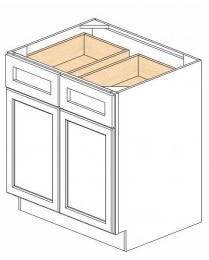 "Shaker White Kitchen Cabinets - Base - 36""W x 24""D x 34-1/2""H - 2 Doors 2 Drawers"