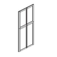 Quality Cabinets - Mahogany Maple Maple - Base Dummy Door BDD8427 - 27W X 3/4D X 84H - BDD8427-JKM