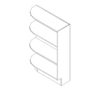 RTA White Kitchen Cabinets - Base End Corner Open Shelf L/R BES09L/R - 9W X 24D X 34 1/2H - BES09-WC