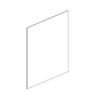 Pearl Gray Shaker - Base Panel BP3696 - 36W X 1/4D X 96H - BP3696-PG