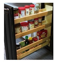 "WBFP-12 - 8"" Base Pullout Organizer with Adjustable Shelves Dimensions: 8""x21""x24"" - For B12"