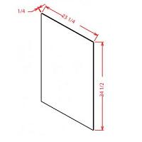 "White Shaker Kitchen Cabinets - Base Skin Panel - 1/4""D X 34 1/2""H X 23 1/4""W"