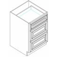 "Shaker White Kitchen Cabinets - Drawer Base - 12""W x 24""D x 34-1/2""H"