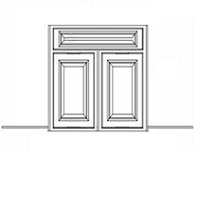 "Shaker White Kitchen Cabinets - Corner Sink Base Front - 26-1/4""W X 30""H - 1 Door WITH BOTTOM PANEL - Makes 42"" corner sink."