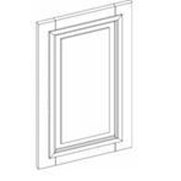 "Charleston Antique White Kitchen Cabinets - Wall Decorative Door Panel - 11-1/2""W X 29""H"