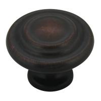 Kitchen Cabinet hardware - Miami Collection - 1-1/4'' overall Round Cabinet Knob. Finish: Oil Rubbed Bronze - 567ORB/9971
