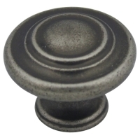 Kitchen Cabinet hardware - Miami Collection - 1-1/4'' overall Round Cabinet Knob. Finish: Weathered Nickel - 567WN/9971