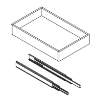 Pearl Gray Shaker - Roll Out Tray - Fits B24 - RD24-PG