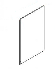 "Light Gray Shaker Kitchen Cabinets - Accessories - 24"" X 96"" Refrigerator Panel - RRP2496"