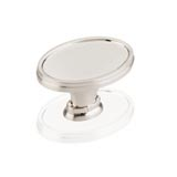"Kitchen Cabinet hardware - Park Ave Collection - 1-5/8"" Overall Length Oval Cabinet Knob. Packaged with one 8/32"" x 1"" screw. Finish: Satin Nickel - 1099-SN/9998"
