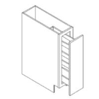 RTA White Kitchen Cabinets - Base Spice Pull Out Cabinet SP09 - 9W X 24D X 34 1/2H - SP09-WC