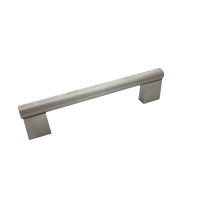 """Kitchen Cabinet hardware - Summer - 3-7/8"""" overall length cabinet bar pull. Holes are 3"""" center-to-center. 1/2"""" Diameter. Packaged with two 8/32"""" x 1"""" screws. Finish: Satin Nickel - 77SN/377"""