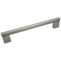 """Kitchen Cabinet hardware - Summer - 7-3/16"""" overall length cabinet bar pull. Holes are 160mm center-to-center. 1/2"""" Diameter. Packaged with two 8/32"""" x 1"""" screws. Finish: Satin Nickel - 77-160SN/377"""