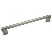 """Kitchen Cabinet hardware - Summer - 9-3/4"""" overall length cabinet bar pull. Holes are 224mm center-to-center. 1/2"""" Diameter. Packaged with two 8/32"""" x 1"""" screws. Finish: Satin Nickel - 77-224SN/377"""