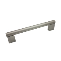 """Kitchen Cabinet hardware - Summer - 4-5/8"""" overall length cabinet bar pull. Holes are 96mm center-to-center. 1/2"""" Diameter. Packaged with two 8/32"""" x 1"""" screws. Finish: Satin Nickel - 77-96SN/377"""