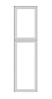 "Antique White Shaker Kitchen Cabinets - Tall Decorative End Panel - 23-1/2""W X 78-1/2""H X 3/4""D"