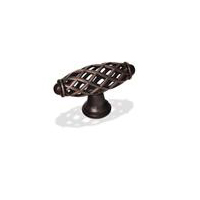"""Kitchen Cabinet hardware - Kitchen Cabinet hardware -La Foce Collection - 2-1/4"""" Overall Length Bird Cage Cabinet Knob. Finish: Oil Rubbed Bronze - 749ORB/1749"""