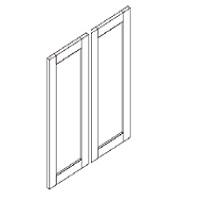 """Gray Maple Cabinets - Replacement Wall Door - 24""""W x 30""""H - 2 Door"""