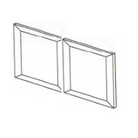 """Mocha Maple Cabinets - Replacement Wall Door - 30""""W x 12""""H - 2 Door"""