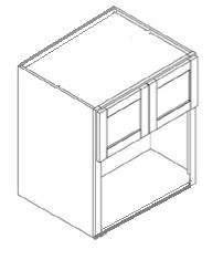 Antique White Cabinets - French Vanilla - Microwave Cabinet WM303027 - 30W X 27D X 30H - WM303027-FV