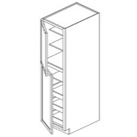 RTA White Kitchen Cabinets - Wall Pantry - (roll out trays sold seperately) Shelf WP188427 - 18W X 27D X 84H - WP188427-WC