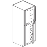 RTA White Kitchen Cabinets - Wall Pantry - (roll out trays sold seperately) Shelf WP248427 - 24W X 27D X 84H - WP248427-WC