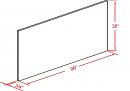 RTA ATLC Blue Shaker - Wood Shelf - WS36 - 36W X  3/4D X 96H - WS36-NBS