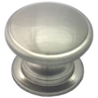 "Kitchen Cabinet hardware - York Collection - 1-1/4"" Diameter Zinc Die Cast Cabinet Knob. Packaged with one 8/32"" x 1"" screw. Finish: Satin Nickel - 470-SN/4702"