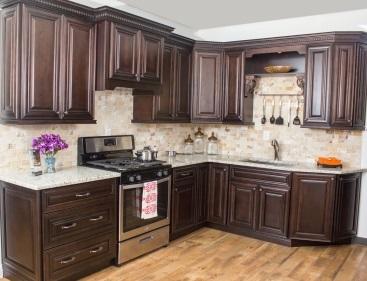 Dark Wood Kitchen Cabinets Base Cabinetry