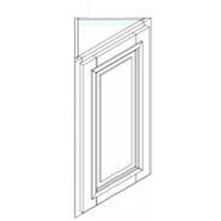 "Charleston Saddle Kitchen Cabinets - Wall Triangle End Cabinet - 17"" x 12"" x 12"" x 42""H  (with door)"